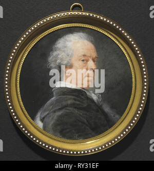 Portrait of Ivan Grigorevich, Count Chernyshev, c. 1785. Heinrich Friedrich Füger (German, 1751-1818). Watercolor on ivory in a later gilt metal and enamel frame; diameter: 10.6 cm (4 3/16 in.); diameter of frame: 13.1 cm (5 3/16 in - Stock Photo