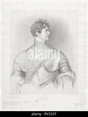 The King, George IV of Great Britain. Richard James Lane (British, 1800-1872). Lithograph - Stock Photo