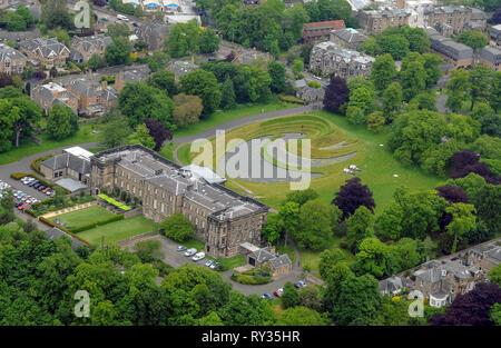 Aerial view of the Scottish Gallery of Modern Art, Belford Road, Edinburgh. - Stock Photo