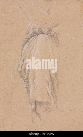 Verona Sketchbook: Drapery study with elbow (page 5), 1760. Francesco Lorenzi (Italian, 1723-1787). Black chalk with white heightening ; sheet: 32 x 23 cm (12 5/8 x 9 1/16 in - Stock Photo