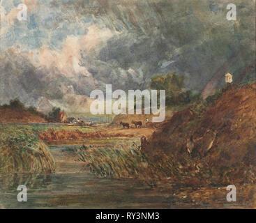 Hampstead Heath, 1800s. Imitator of John Constable (British, 1776-1837). Watercolor; sheet: 22.1 x 24.5 cm (8 11/16 x 9 5/8 in - Stock Photo