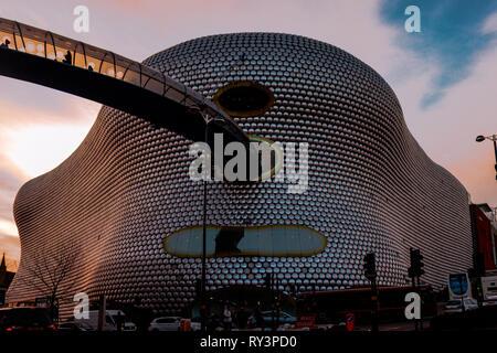 The Bullring in Birmingham at sunset - Stock Photo