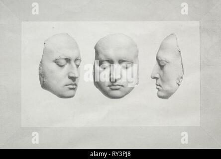 Death Mask of Sir Thomas Lawrence. Richard James Lane (British, 1800-1872). Lithograph - Stock Photo