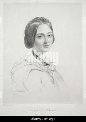 Lady Elizabeth Herbert. Richard James Lane (British, 1800-1872). Lithograph, hand colored - Stock Photo
