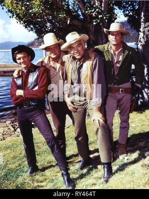 VOGEL,BLOCKER,GREENE,LANDON, BONANZA, 1959 - Stock Photo
