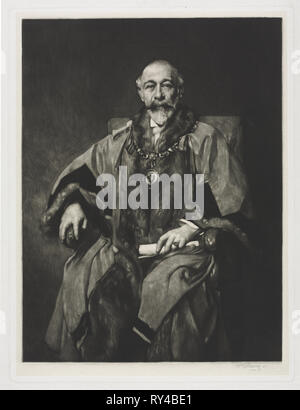 Sir Bartle Frère. William Strang (British, 1859-1921). Mezzotint - Stock Photo