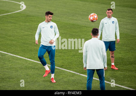 Turin, Italy. 11th Mar, 2019. during the Atletico Madrid training session before the Champions League match Juventus vs Atletico Madrid, Italy, Turin At Alianz Stadium, 9th march 2019 Credit: Alberto Gandolfo/Pacific Press/Alamy Live News - Stock Photo