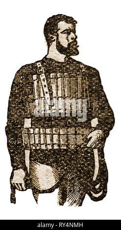 A 1900 illustration of a cork life jacket (lifebelt) for saving mariners from drowning invented by RNLI Inspector, Captain Ward,   in 1854. - Stock Photo