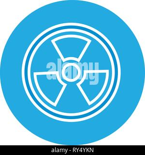 radiation symbol science - Stock Photo