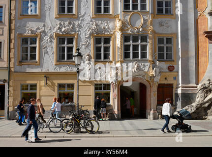 Asamhaus, Sendlinger Strasse, Muenchen, Bayern, Deutschland - Stock Photo