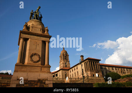 The Delville Wood War Memorial Replica In Front Of The Union Buildings, South Africa - Stock Photo