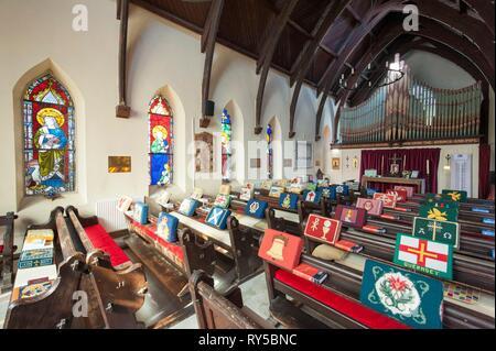 France, Ille et Vilaine, Dinard, Saint Barthelemy Anglican Church - Stock Photo