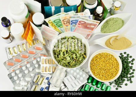 Healthy Nutrition Concept- No visible Brands on white Background - Stock Photo