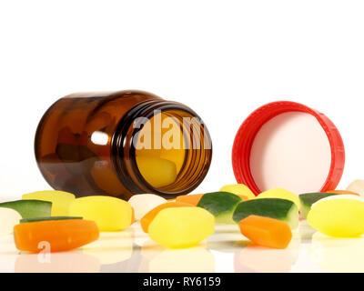 Vegetable Vitamins Concept on white Background - Stock Photo