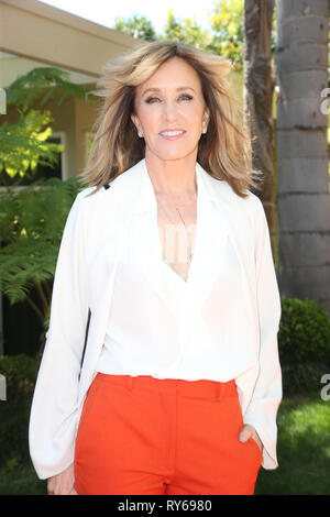 ***FILE PHOTO*** Felicity Huffman and Lori Loughlin Indicted in College Admission Bribery Case. BEVERLY HILLS, CA - APRIL 16: Felicity Huffman at Eva Longoria's Star On The Hollywood Walk Of Fame Ceremony Post Luncheon in Beverly Hills, California on April 16, 2018. Credit: Faye Sadou/MediaPunch - Stock Photo