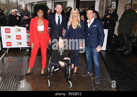 London, UK. 12th Mar, 2019. LONDON, UK. March 12, 2019: Hollyoaks arriving for the TRIC Awards 2019 at the Grosvenor House Hotel, London. Picture: Steve Vas/Featureflash Credit: Paul Smith/Alamy Live News - Stock Photo