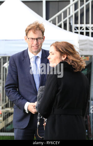 Westminster, London, UK. 12th Mar, 2019. Tobias Ellwood, MP, Conservative. Brexit Supporter. Credit: Imageplotter/Alamy Live News - Stock Photo