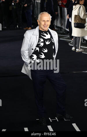 London, UK. 12th Mar 2019. Wayne Sleep, The White Crow - UK Premiere, Curzon Mayfair, London, UK. 12th Mar, 2019. Photo by Richard Goldschmidt Credit: Rich Gold/Alamy Live News - Stock Photo