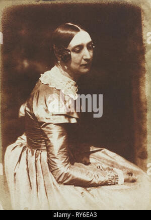 Elizabeth Rigby, later Lady Eastlake (1809-1893), c. 1844-1845. David Octavius Hill (British, 1802-1870), and Robert Adamson (British, 1821-1848). Salted paper print from calotype negative; image: 21.5 x 15.6 cm (8 7/16 x 6 1/8 in.); matted: 45.7 x 35.6 cm (18 x 14 in - Stock Photo