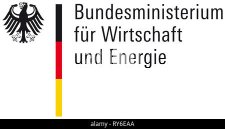 Logo of the Federal Ministry of Economics and Energy the Federal Republic of Germany based in Berlin. - Stock Photo