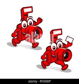 camera mascot logo - Stock Photo