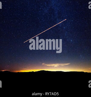 The big and bright stars over Texas. - Stock Photo