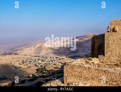 Kerak Castle, Al-Karak, Karak Governorate, Jordan - Stock Photo