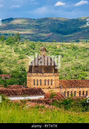 Catedral de La Inmaculada Concepcion, Barichara, Santander Department, Colombia - Stock Photo