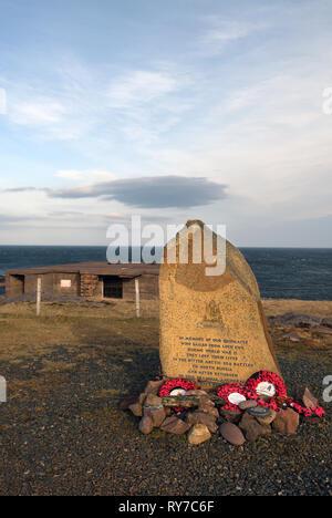 russian arctic convoy memorial;rubha nan sasan;wester ross;scotland - Stock Photo