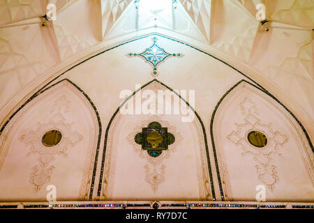 Kashan Boroujerd Historical House with Carved Facade Windows - Stock Photo