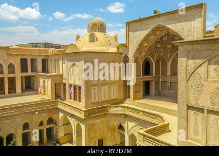 Kashan Boroujerd Historical House Courtyard Dome View Point - Stock Photo
