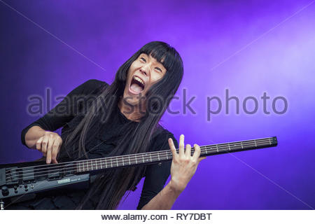 BO NINGEN performing live at Musilac summer festival, 13 july 2015 - Stock Photo
