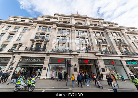 224-244 Regent Street is a commercial building in London listed department store block designed by Sir Henry Tanner (1921) for Dickins & Jones