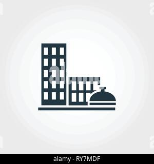 City Services creative icon. Monochrome style design from urbanism icons collection. City Services icon for web design, apps, software, print usage - Stock Photo