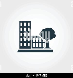 Amenity creative icon. Monochrome style design from urbanism icons collection. Amenity icon for web design, apps, software, print usage - Stock Photo