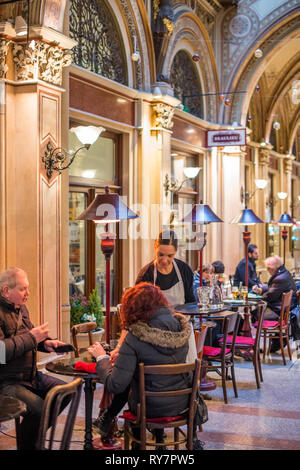 Cafes and shops in the Freyung Passage, Palais Ferstel, Herrengasse street, Innere Stadt, Vienna, Austria. - Stock Photo