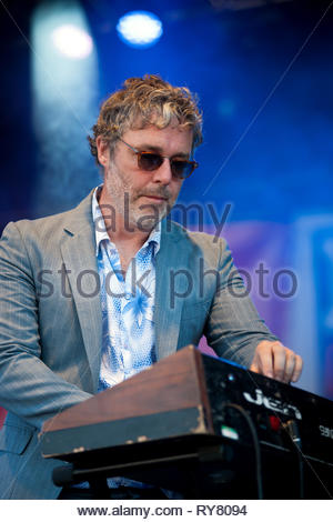 BAXTER DURY performing live at Musilac summer festival, 11 july 2015 - Stock Photo
