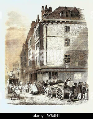 Old Houses Recently Demolished Near St. Dunstan's Church Fleet Street - Stock Photo
