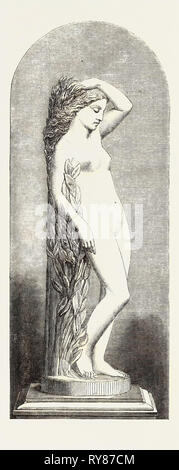 Daphne Marble Statue, the International Exhibition 1862 - Stock Photo