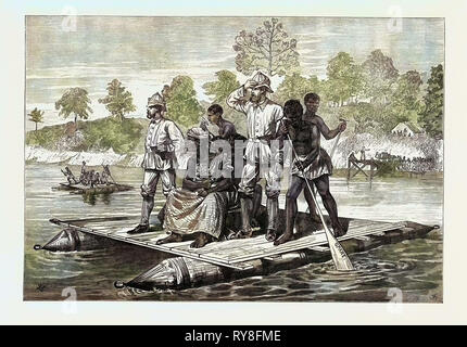 The Ashantee War: Ashantee Ambassadors Crossing the Prah 1874 - Stock Photo