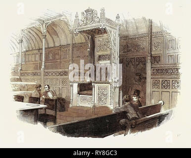 The Speaker's Chair, for the New House of Commons, 1852 - Stock Photo