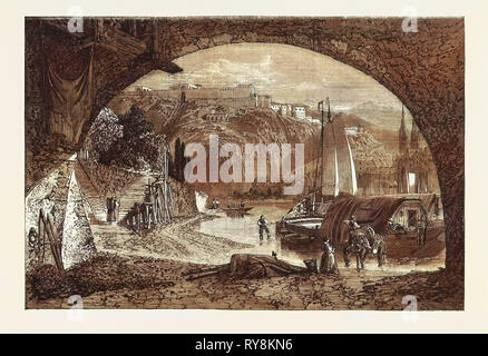 Reminiscence of the Rhine, in the Exhibition of the Society of British Artists 1861 - Stock Photo