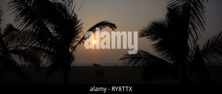Asia, Sri Lanka, Negombo sunset - Stock Photo