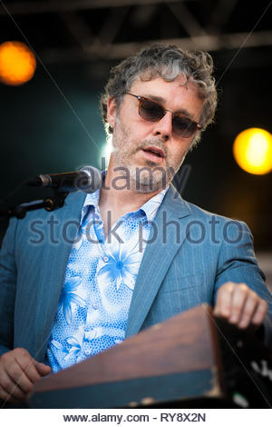BAXTER DURY performing live at Musilac festival, 11 july 2015 - Stock Photo