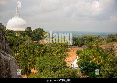 Asia, Sri Lanka, Mihintale, Maha Stupa, Ambasthala Dagaba - Stock Photo
