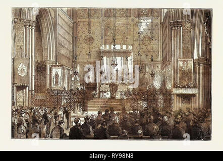 Eastertide in the Church of St. Albans, Holborn, London, UK - Stock Photo