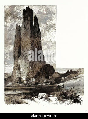 Tower Rock Garden of the Gods United States of America - Stock Photo