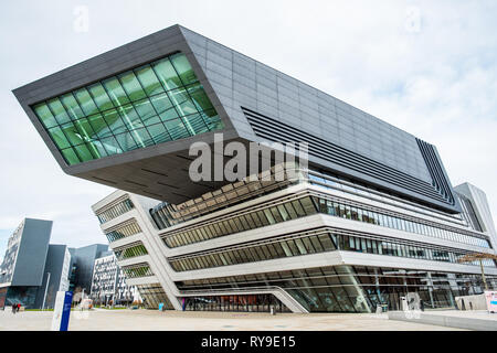 WU Campus Vienna, Vienna University of Economics and Business, LC, Library and Learning Centre, Austria - Stock Photo