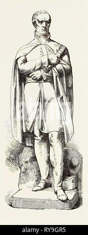 Marble Statue of the Late Duke of Wellington. Just Erected at the East India House - Stock Photo