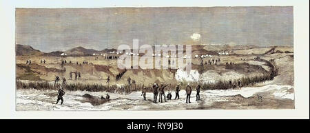 The War in Egypt: The Engagement at Chalouf on the Suez Canal, August 20 - Stock Photo